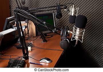 estação, rádio