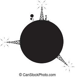 estação, radio-transmitting