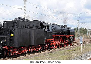 estação, trem, histórico, vapor