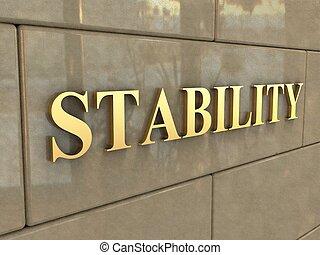 estabilidad, palabra