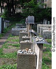 establecido, sinagoga, krakow, judío, 1535., cementerio, él,...