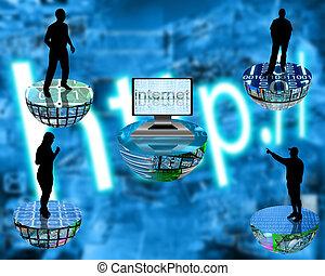 establecimiento de una red, plataforma