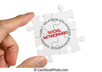 establecimiento de una red,  social