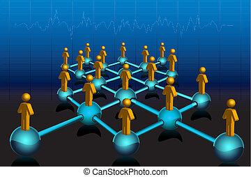establecimiento de una red