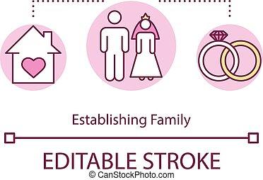 establishing, アイコン, 家族, 概念