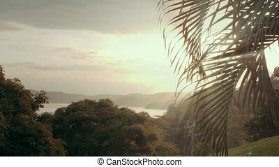 Establishing shot of a tropical paradise - Wide angle view...