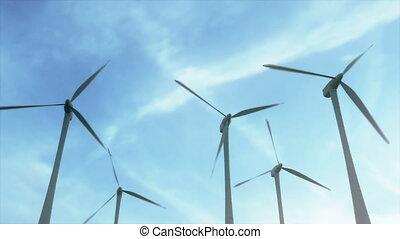 Establishing shot of a wind farm / turbines - Gorgeous shot...