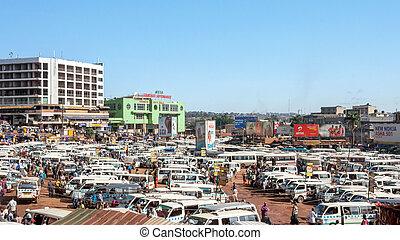 estación de autobús, kampala