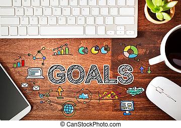 estación de trabajo, concepto, metas
