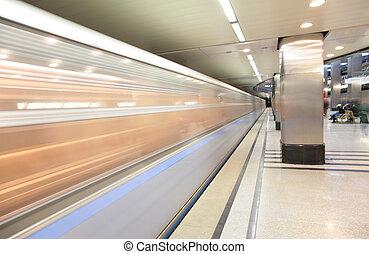 estación de tren, mudanza, metro