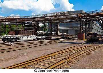 estación del ferrocarril, carga