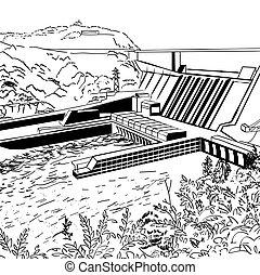 estación, energía hidroeléctrica