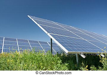 estación, energía solar