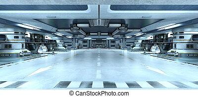 estación, espacio