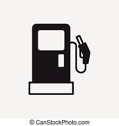 estación, gas, icono