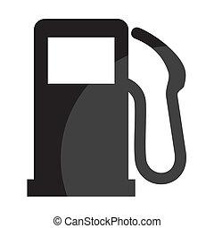 estación, gas, señal