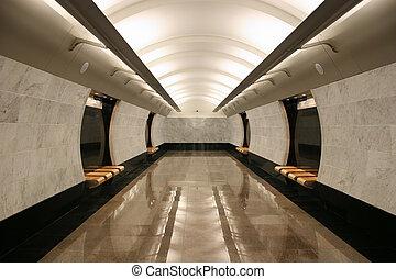 estación, metro, vacío