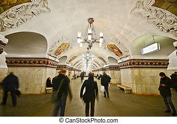 estación, moscú, kievskaya, metro