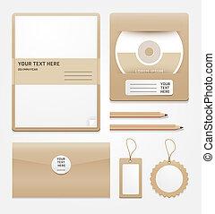 estacionário, marrom, paper/vector