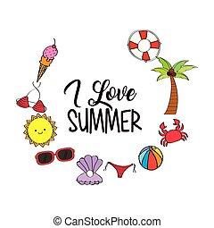 estacional, verano, tiempo