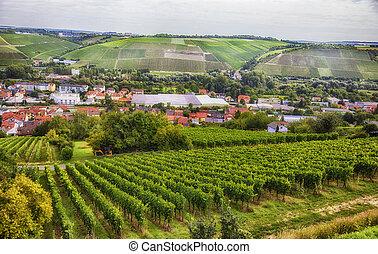 estacional, wurzburg, baviera, paisaje