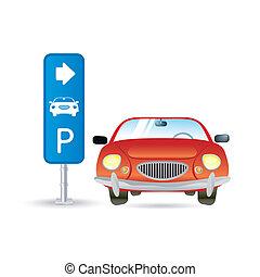estacionamento, ícone