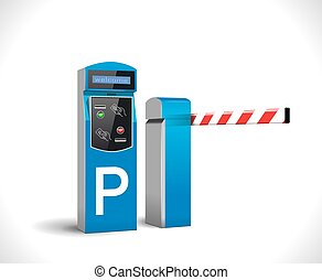 estacionamiento, pago, estación, -, acceso