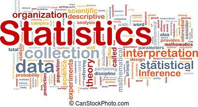 estadística, concepto, plano de fondo