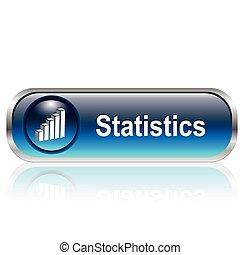 estadística, icono, botón