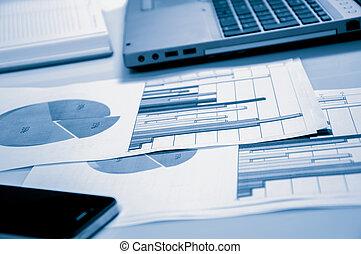 estadística, mercadotecnia, concept., comercial, publicidad, digital, mejorar, promoción