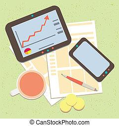 estadística, negocio moderno