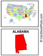estado, alabama, estados unidos de américa