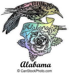 estado alabama, pájaro