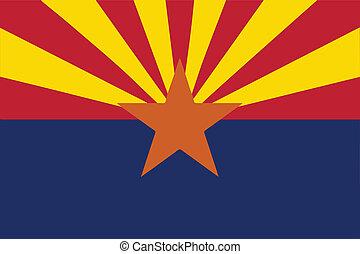 estado arizona, bandeira