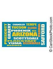 estado arizona, cidades, lista