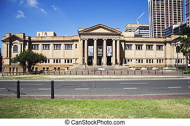 estado, australia, nsw, sydney, biblioteca