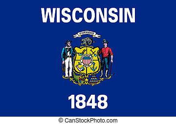 estado, bandeira wisconsin