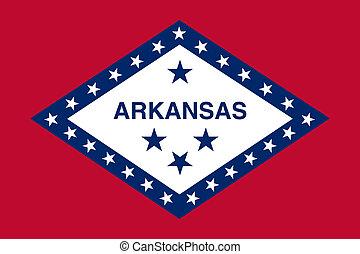 estado, bandera de arkansas