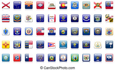 estado, banderas, estados unidos de américa