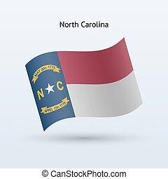 estado, de, bandeira carolina norte, waving, form.