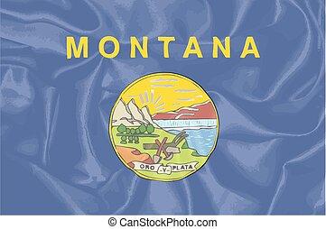 estado de montana, seda, bandera
