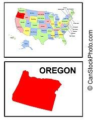 estado, estados unidos de américa, oregón