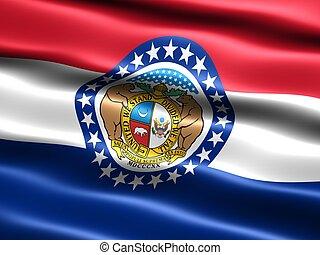 estado, flag:, misuri