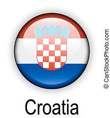estado, funcionario, bandera del croatia