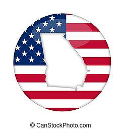 estado, geórgia, emblema, américa