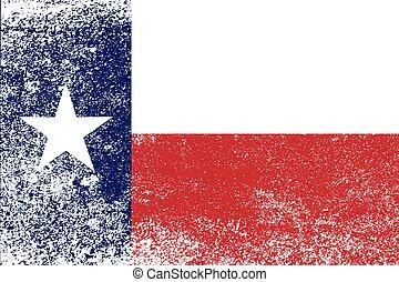 estado, grunge, bandeira, texas