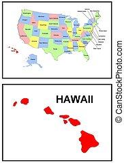 estado, hawai, estados unidos de américa