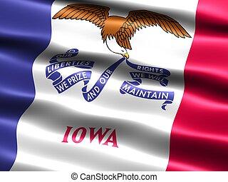 estado, iowa, flag: