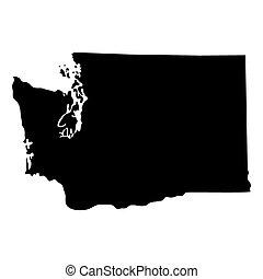 estado, mapa washington, eua.