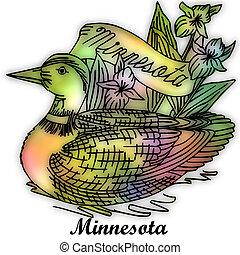 estado, minnesota, pájaro